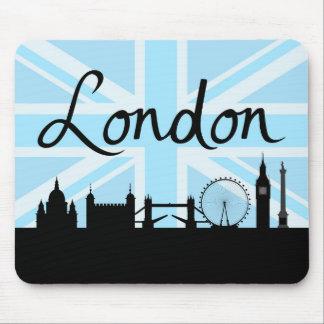 Mousepad Roteiro & locais de Londres no céu de Union Jack