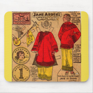 Mousepad roupa de papel do chinês da boneca de Jane Arden