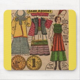 Mousepad roupa de papel do polonês da boneca de Jane Arden