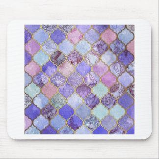 Mousepad Roxo e claro - teste padrão marroquino azul do