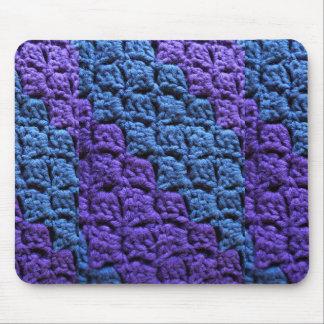 Mousepad Roxo e Crochet azul