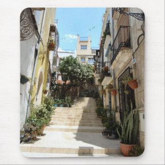Mousepad Rua histórica de Alicante. Tapete do rato