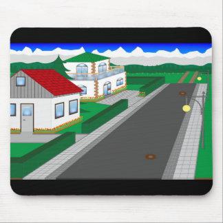 Mousepad Ruas e construção de casa