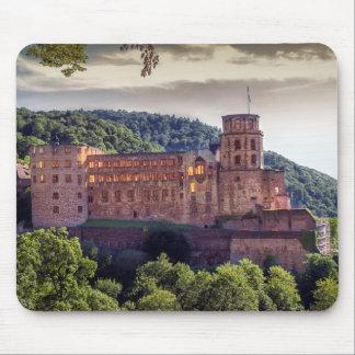 Mousepad Ruínas famosas do castelo, Heidelberg, Alemanha