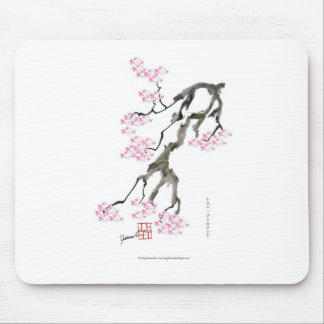 Mousepad sakura com peixe dourado cor-de-rosa, fernandes