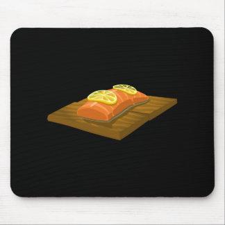 Mousepad Salmões da prancha do cedro da comida do pulso