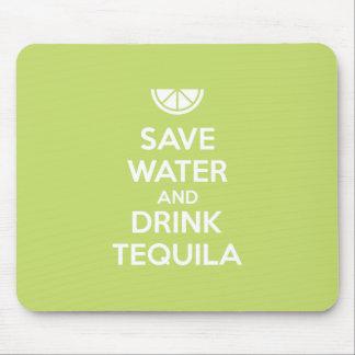 Mousepad Salvar a água e beba o Tequila