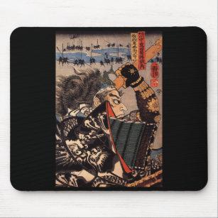 Mousepad Samurai na guerra. Armadura bonita do dragão. c. 1