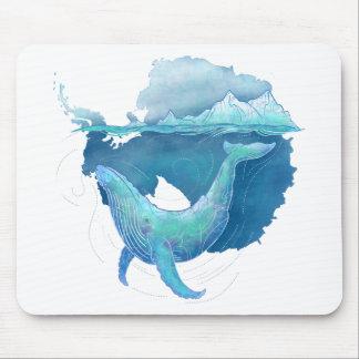 Mousepad Santuário da baleia do oceano do sul
