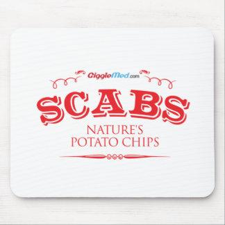 Mousepad Scabs: Microplaquetas de batata da natureza