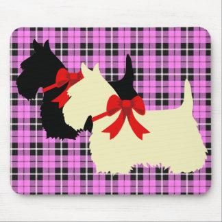 Mousepad Scottish xadrez preta/wheaten de Terrier da