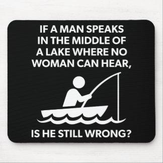 Mousepad Se um homem fala em um lago - pesca, novidade