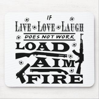 Mousepad Se vivo o riso do amor não faz fogo do alvo da