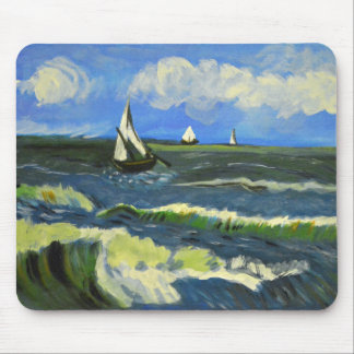 Mousepad Seascape em Saintes-Maries, Van Gogh