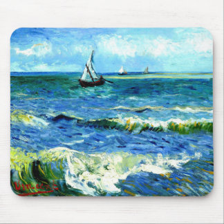 Mousepad Seascape em Saintes-Maries, Vincent van Gogh