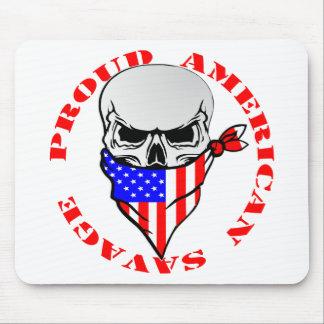 Mousepad © selvagem americano orgulhoso de