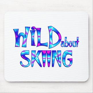 Mousepad Selvagem sobre o esqui