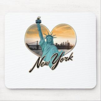 Mousepad Senhora Liberdade da lembrança da skyline da Nova