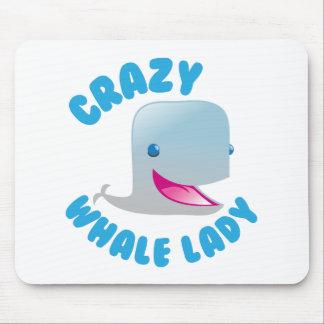 Mousepad senhora louca da baleia