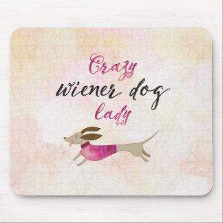 Mousepad Senhora louca do cão do Wiener
