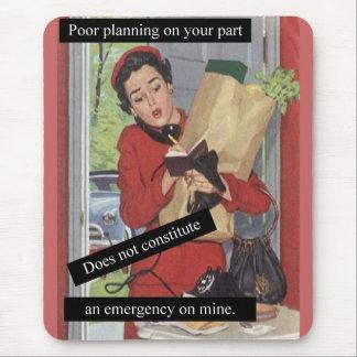 Mousepad Senhora ocupada do planeamento pobre