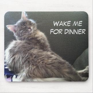 Mousepad Sesta do gato: Acorde-me para o comensal