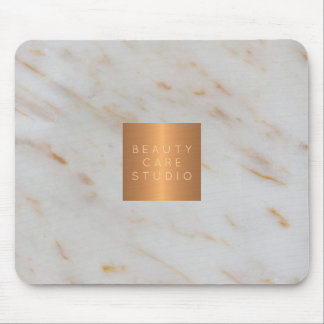 Mousepad Seu mármore cinzento metálico do cobre do nome da