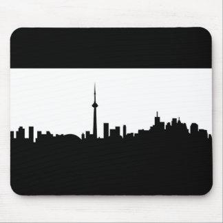 Mousepad silhoue do preto do símbolo da cidade de Canadá da