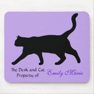 Mousepad Silhueta da caminhada de gato: Mesa de