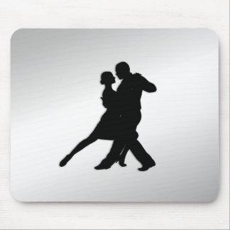 Mousepad Silhueta dos dançarinos do tango