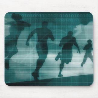 Mousepad Silhueta Illustrati do software do perseguidor do