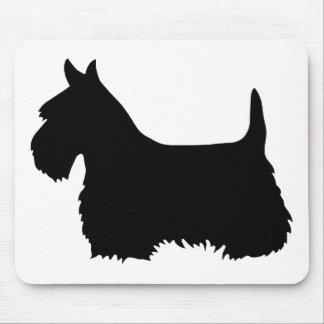 Mousepad Silhueta preta de Terrier do Scottish, cão de
