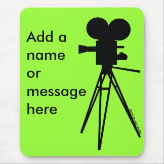 Mousepad Silhueta retro da câmera de filme