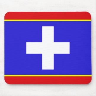 Mousepad símbolo central da região do país da bandeira da