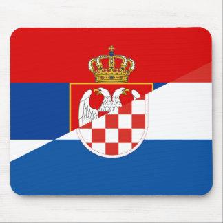 Mousepad símbolo do país da bandeira de serbia croatia meio