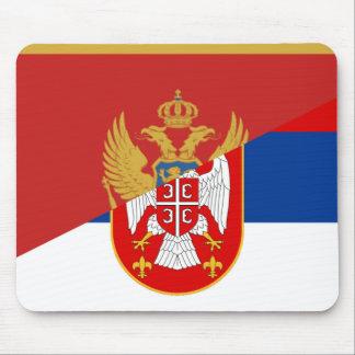 Mousepad símbolo do país da bandeira de serbia Montenegro