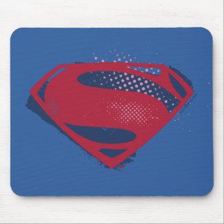 Mousepad Símbolo do superman da escova & da reticulação da
