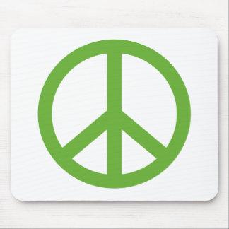 Mousepad Símbolo verde do sinal de paz