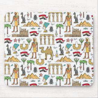 Mousepad Símbolos da cor do teste padrão de Egipto