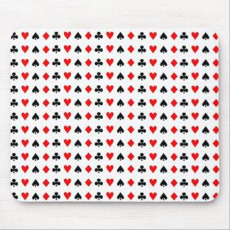 Mousepad Símbolos dos cartões de jogo de póquer