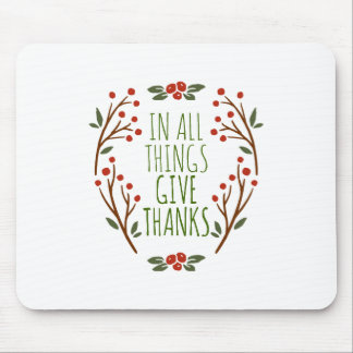 Mousepad Simples dê a obrigados a acção de graças |