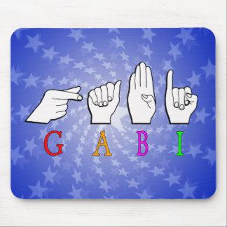 MOUSEPAD SINAL CONHECIDO DE GABI FINGGERSPELLED ASL