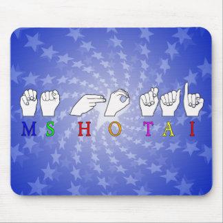 MOUSEPAD SINAL CONHECIDO DO MS HO TAI FINGERSPELLED ASL