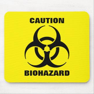 Mousepad Sinal de aviso amarelo do símbolo do Biohazard