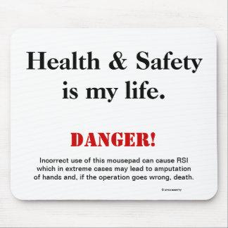 Mousepad Sinal de aviso da paródia da piada da saúde e da