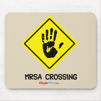 Mousepad Sinal do cruzamento de MRSA