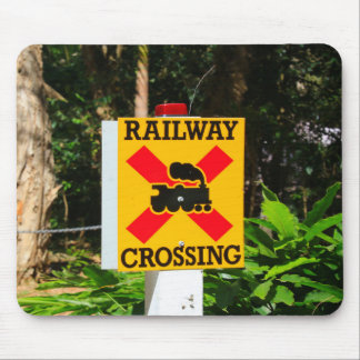 Mousepad Sinal do cruzamento Railway