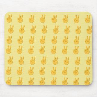 Mousepad Sinal Emoji da mão da paz