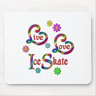 Mousepad Skate de gelo vivo do amor