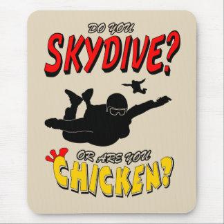 Mousepad Skydive ou galinha? (preto)